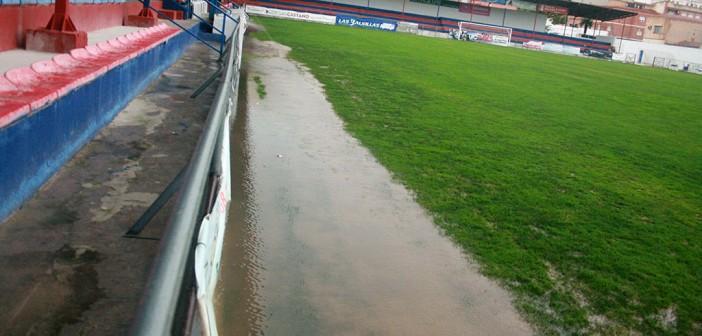 El partido entre el Yeclano y el Alhama, suspendido por las lluvias