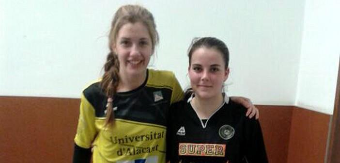 Ana (izquierda) y Alba (derecha), en el duelo entre sus clubes