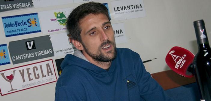 José Alberto, en la sala de prensa / Á. Ayala