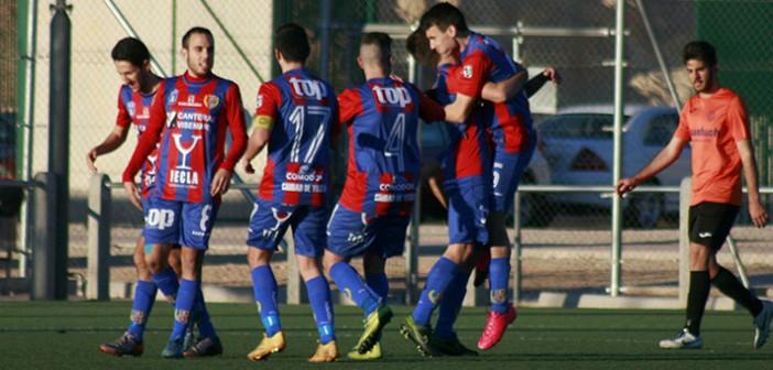 El equipo yeclano celebra uno de los tantos ante Rincón de Seca / J. Ramón Martínez