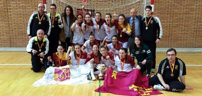 La selección murciana, celebrando el título en Parla / Foto: Alba Gandía