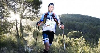 Un corredor de la Tinto Trail,, durante el trazado / Mari Martínez
