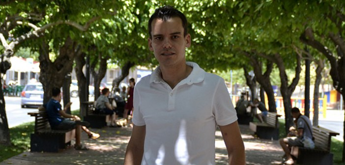 Jorge Diaz Escudero, tras la entrevista / I. Azorín