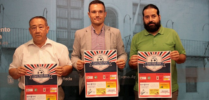 Joaquín Marín, Pedro Romero y J. Antonio Soriano, en la presentacion de la Supercopa / GMC