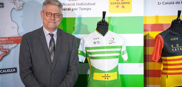 El director de la prueba, Rubén Peris, junto a algunos maillots / Gobik