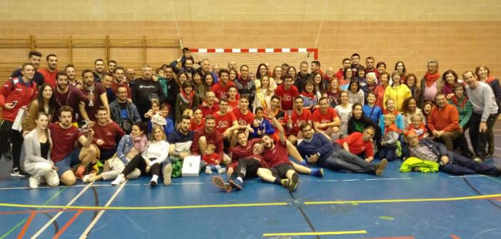 Foto de familia participantes torneo futbol sala san isidro
