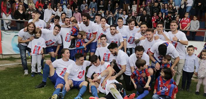 Celebracion titulo de liga del Yeclano en 2018