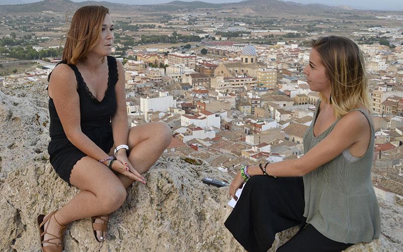 Polo, durante la entrevista con Silvia / I. Azorín