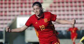 Eva Navarro celebra gol Serbia