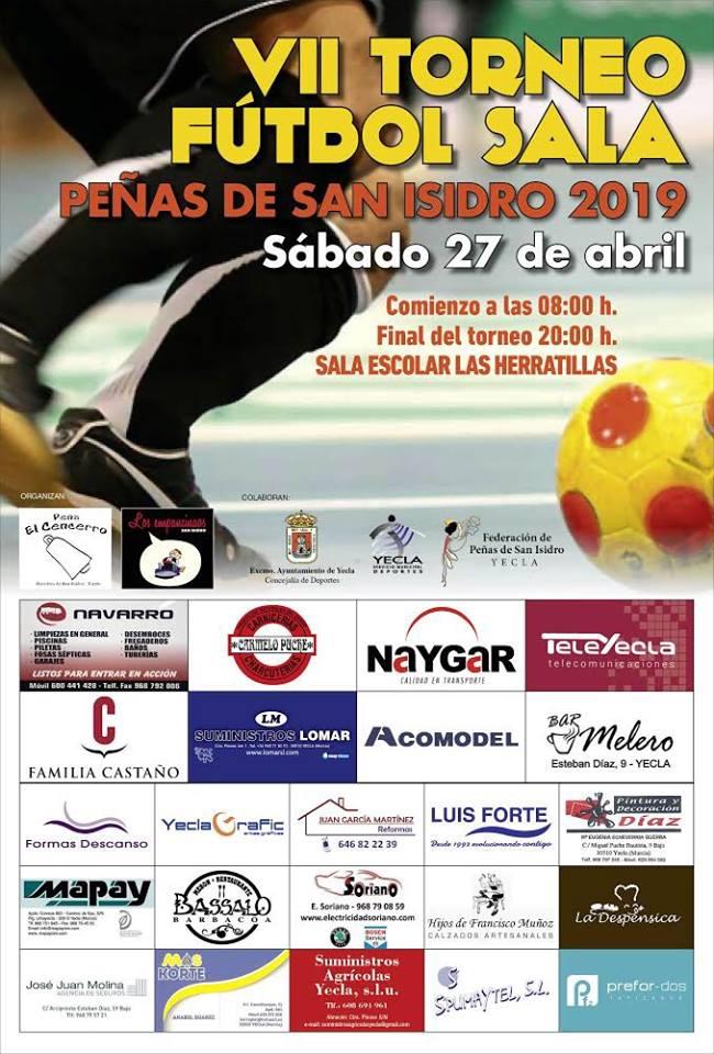Cartel del VII Torneo de San Isidro de fútbol sala