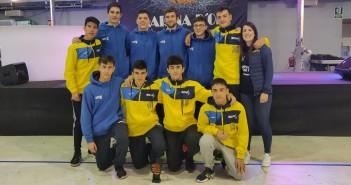 La plantilla del Junior de la Red Deportiva Yecla en Marina dOr