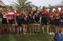 Triatletas participantes en el triatlón cross de Caudete